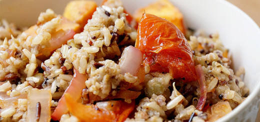 Tomato and Sweet Potato with Multigrain Rice, Quinoa & Lentils