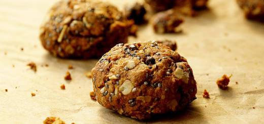 Crunchy Healthy Trail Mix Cookies